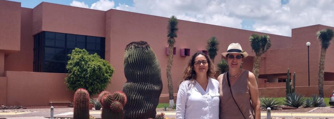 UA English Professor Cristina Ramirez visits El Colegio de San Luis